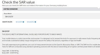 Samsung inadvertently posts SAR rating for the S6 Edge: radiation levels lower than any other flagship