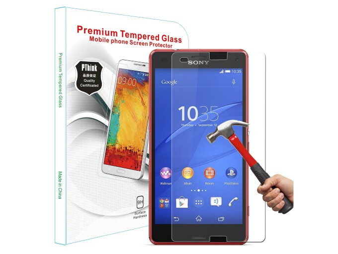 ... Xperia Z3 Compact. PThink® 2.5D Round Edge 0.3mm Ultra-thin Tempered Glass Screen Protector for