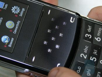 KF510 touch navigation area