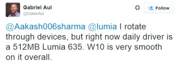 "Windows 10 is ""very smooth"" on the Nokia Lumia 635"