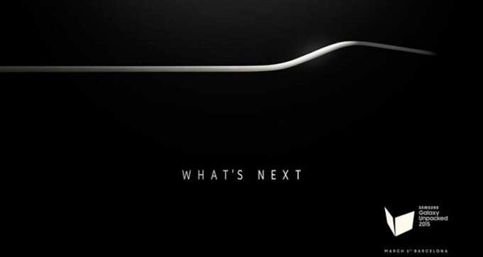 """On February 2nd, Samsung teased an upcoming curved phone for its MWC Unpacked event - Samsung Galaxy S6 and Galaxy S6 Edge both coming with 5.1"""" screen, metal body"""