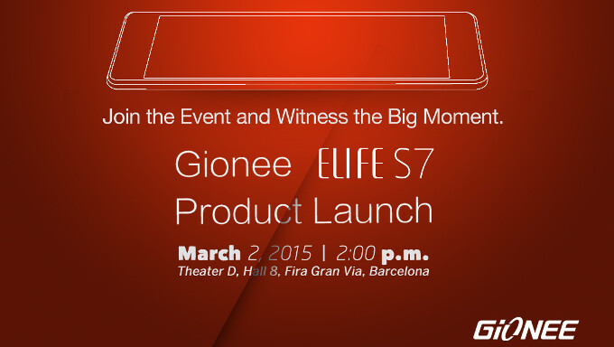 Gionee to unveil the Elife S7 - it's out of the thinness race, but promises performance