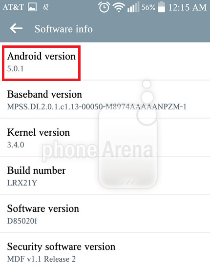 AT&T's LG G3 is updated to Android 5.0.1 - AT&T's LG G3 receives Android 5.0.1