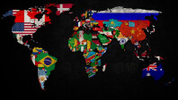 World-Map-and-Flags-Wallpaper