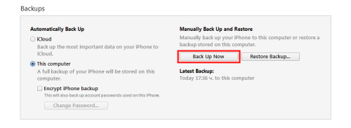 Make sure that you have first backed up all important data from your device