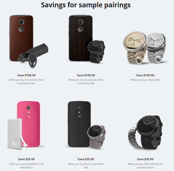 Motorola shows how you can save money on its website by purchasing multiple devices - Motorola extends its website discounts to February 17th