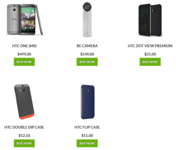 HTC is offering discounts on these products until Monday