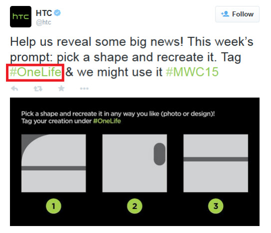 """HTC confirms use of One Life in promos - HTC to eliminate parenthesis with HTC One M9, use """"One Life"""" slogan for promos"""