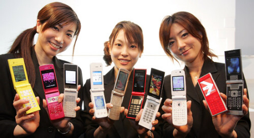 Only in Japan: flip phone share growing, smartphones on decline