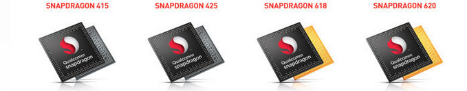 Qualcomm Snapdragon 415 vs 425 vs 618 vs 620: specs comparison