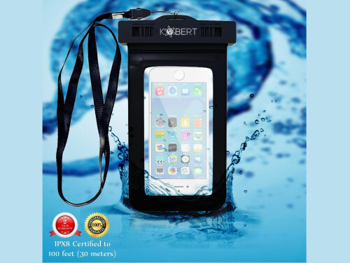 5ive® Shockproof Dustproof Heavy Duty Full Body Lifeproof Case with Tempered Glass Screen Protect case (For iPhone 6 Plus, Black)