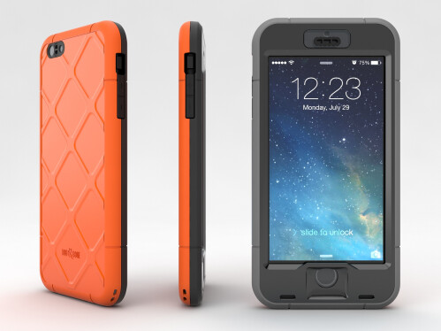 Waterproof Shockproof Dirtproof Snowproof Triple Layer Kick-Stand Armor Case Cover For iPhone 6 Plus