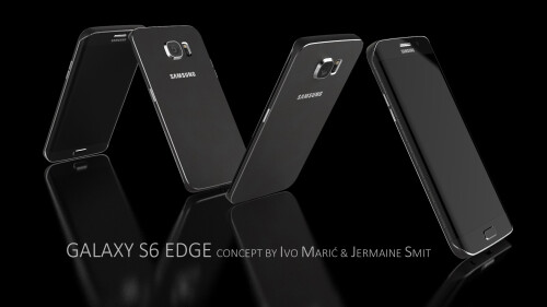 Samsung Galaxy S6 Edge 3D renders