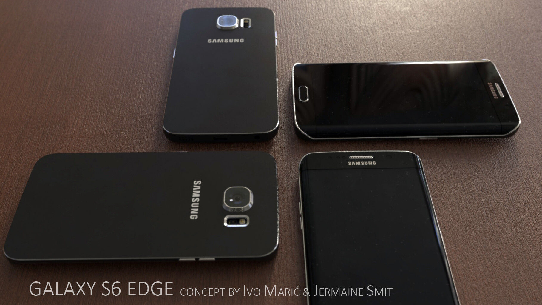 Fresh Galaxy S6 and S6 Edge 3D design concepts depict the dual-edged ...