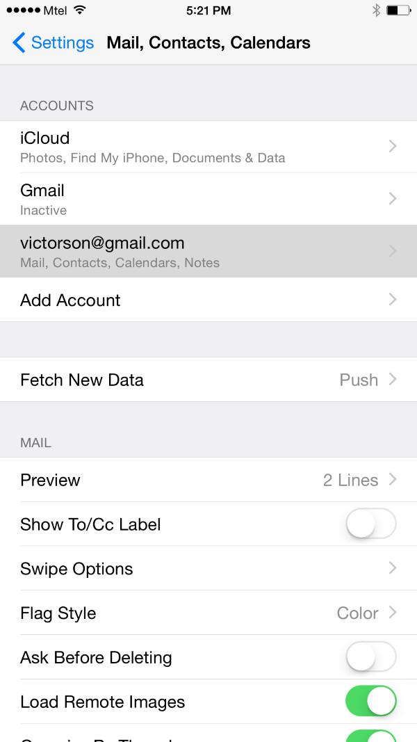 Sincronizzare Posta E Contatti Gmail Aggiungendo L Account
