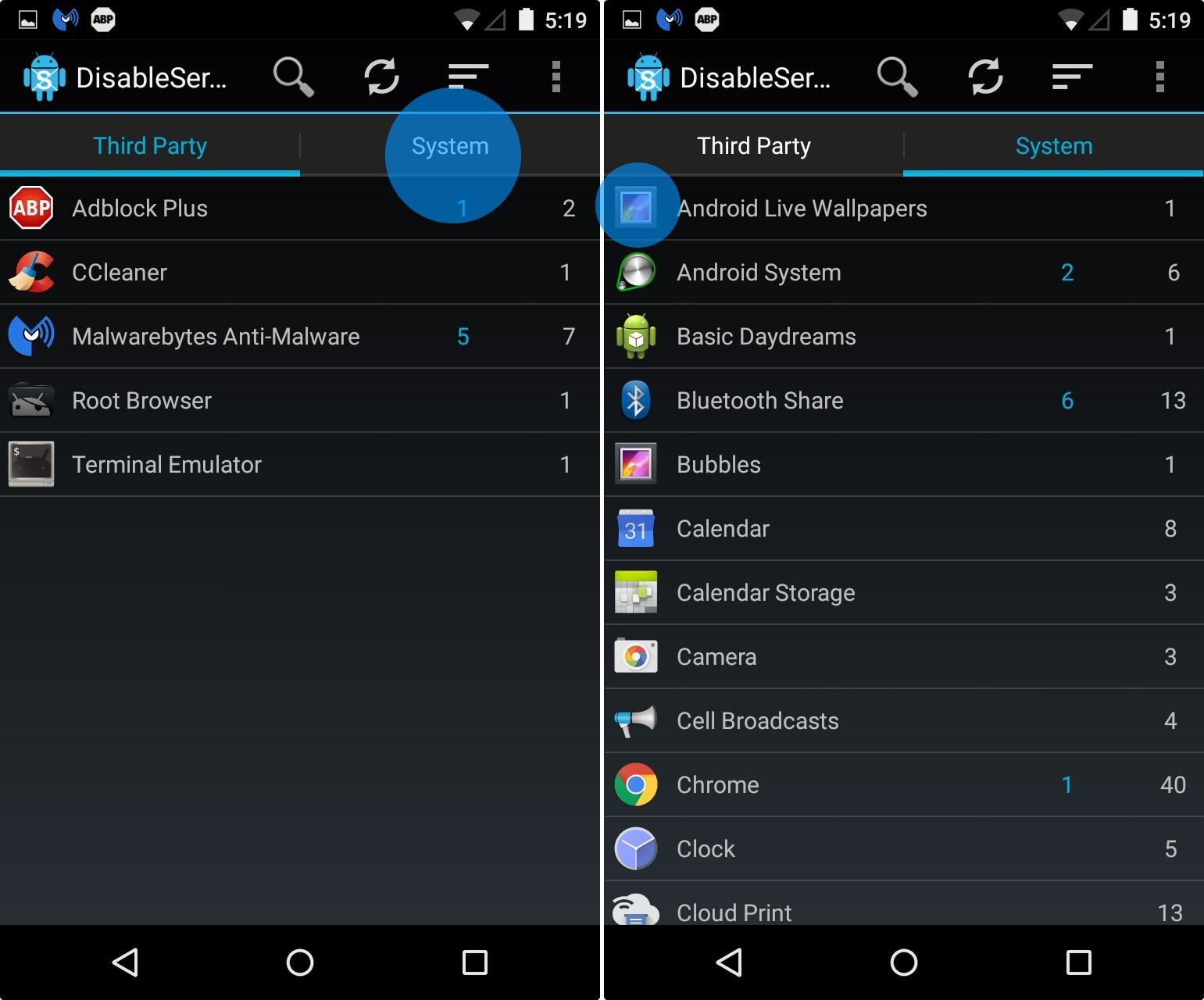 remove system apps android root