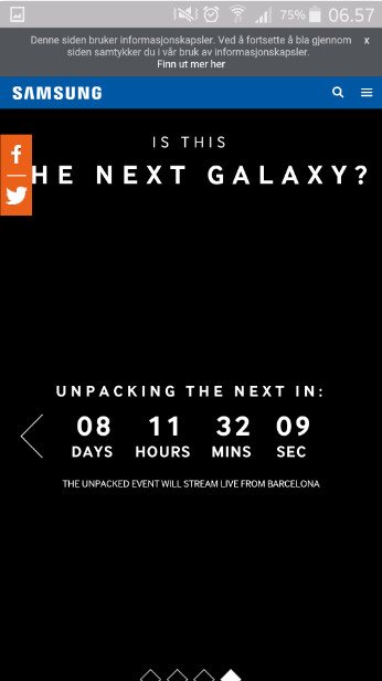 Countdown timer ticks down toward the unveiling on March 1st