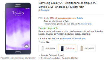 Samsung's thinnest smartphone ever (Galaxy A7) costs more than the S5 in Europe