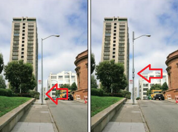 Two different deployments of small cells on a light pole in San Francisco