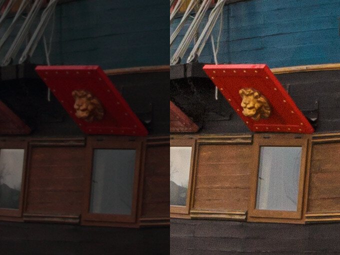 Canon 650D before and after enhancements
