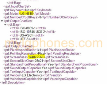 User Agent profiles tips the LG-H818, possibly the LG G4 for the Asian market