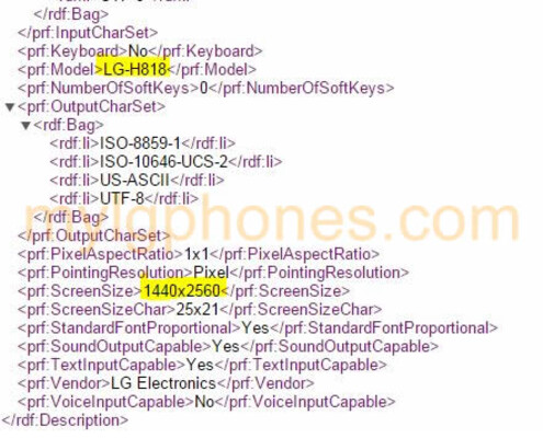 User Agent profiles tips the LG-H818, possibly the LG G4 for the Asian market - User Agent profile reveals the LG-H818, a version of the LG G4?