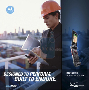 Motorola Adventure V750 is rugged
