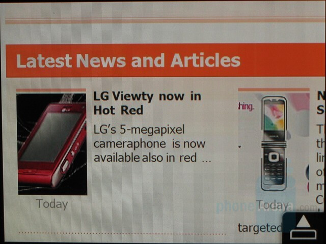 Landscape - PhoneArena on the Opera browser - Hands-on with the HTC Touch Diamond