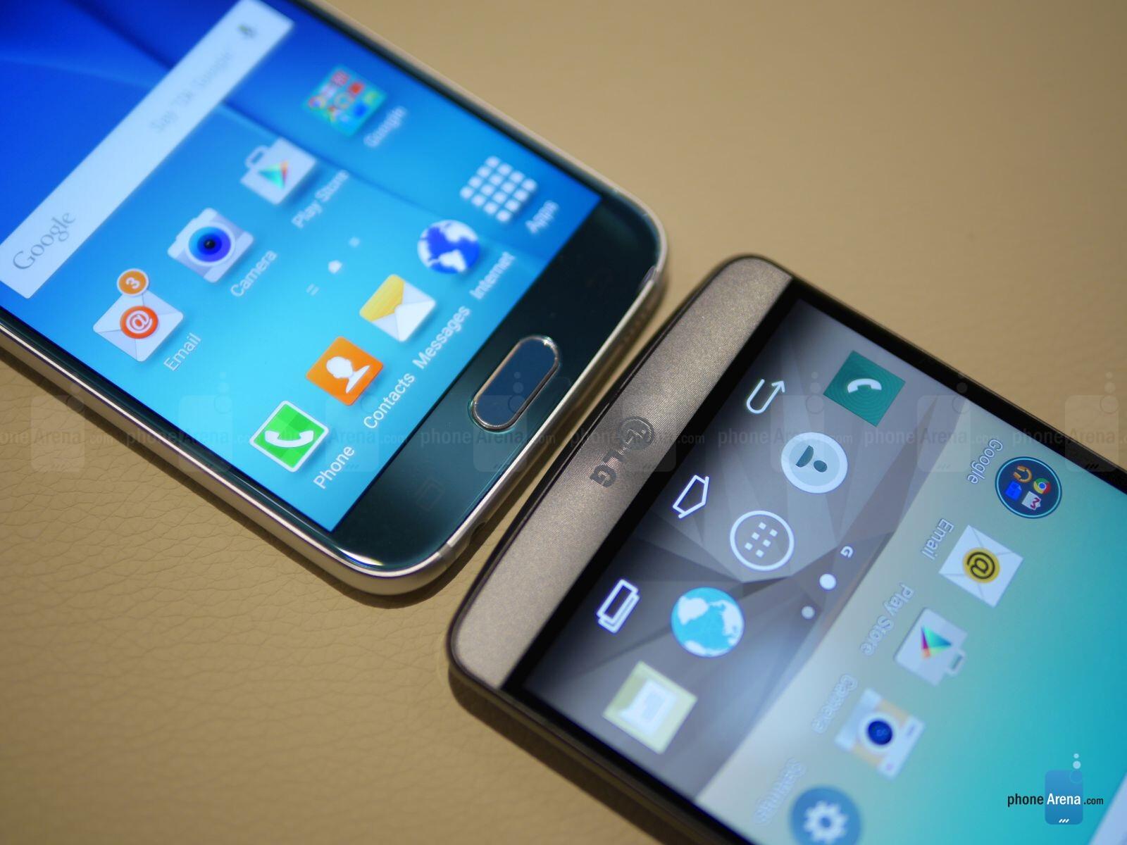samsung galaxy s6 versus lg g3 first look phonearena reviews Droid RAZR Sony Ericsson Walkman