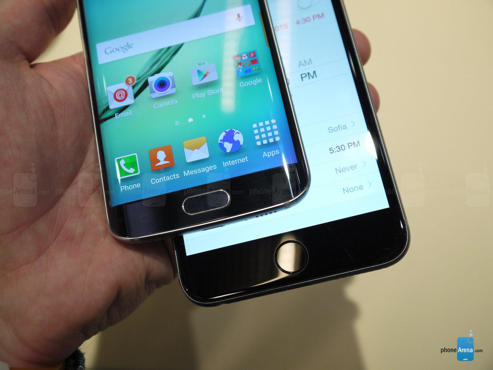 Samsung Galaxy S6 edge vs Apple iPhone 6 Plus: first look