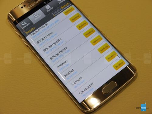 Samsung Galaxy S6 edge memory speed benchmark