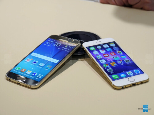 Samsung Galaxy S6 vs Apple iPhone 6 images