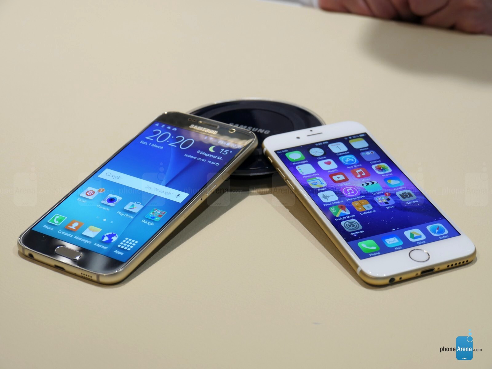 samsung galaxy s6 vs apple iphone 6 first look