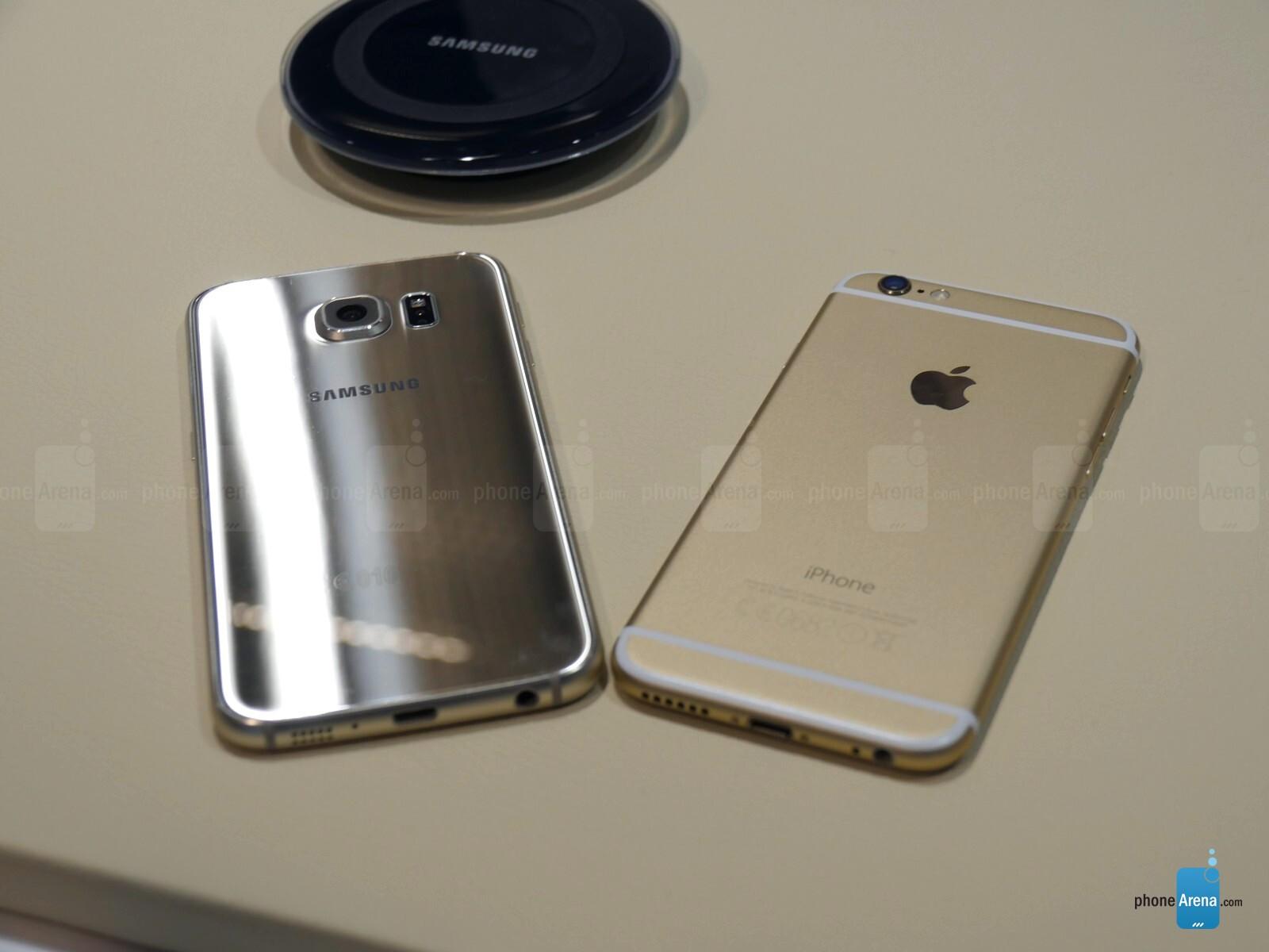 iphone 6 plus vs s6 flat