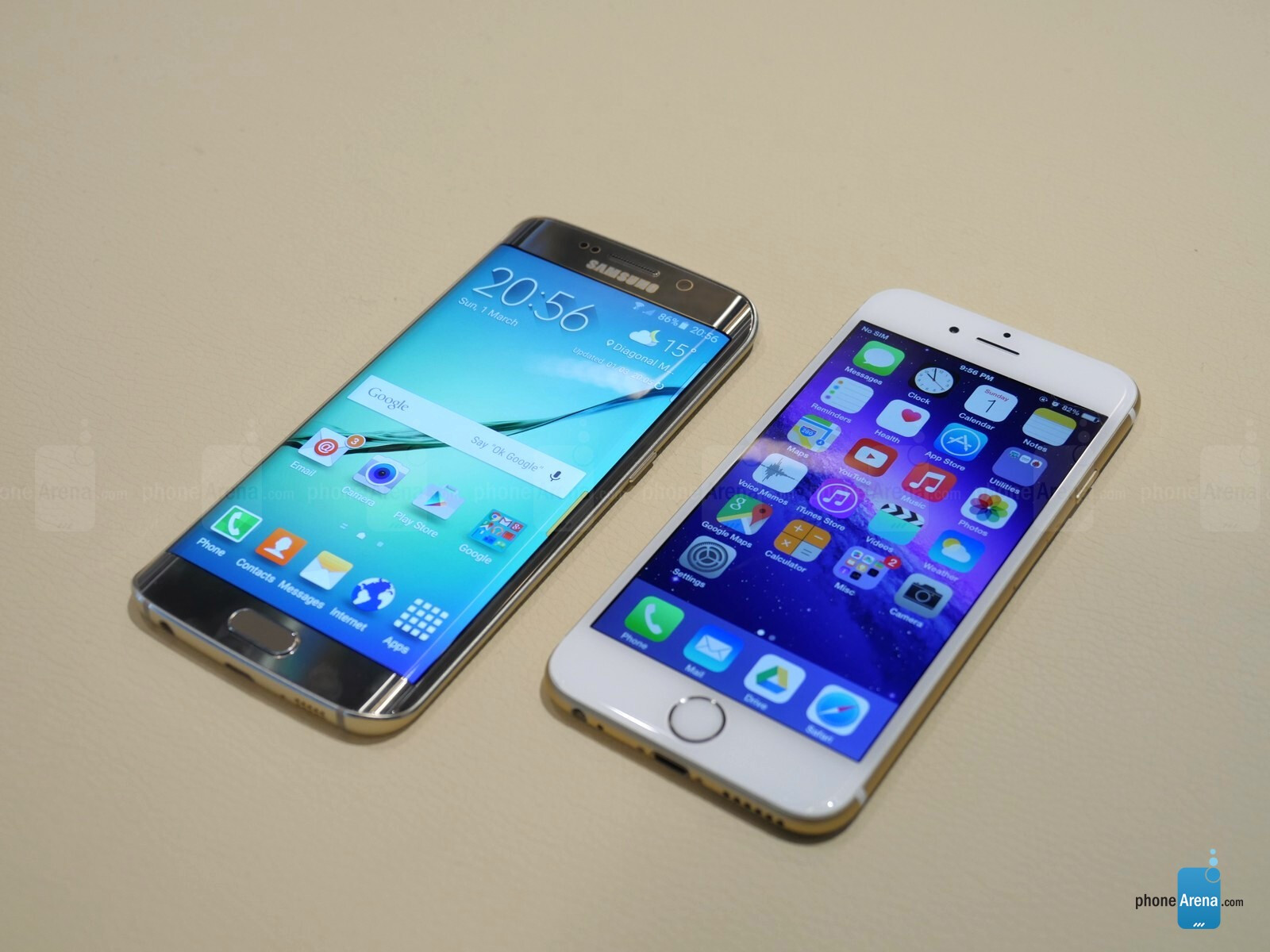 samsung galaxy s6 edge vs apple iphone 6 first look. Black Bedroom Furniture Sets. Home Design Ideas