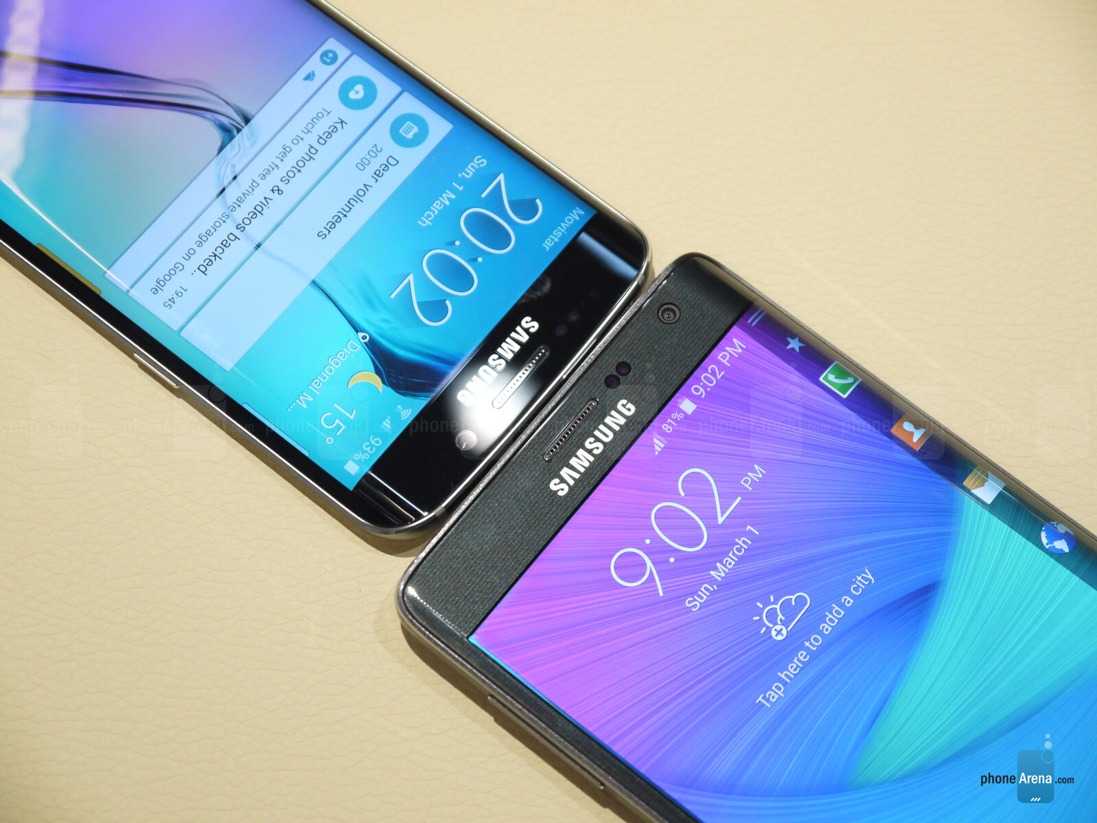 Samsung Galaxy S6 Edge vs Galaxy Note Edge: first look