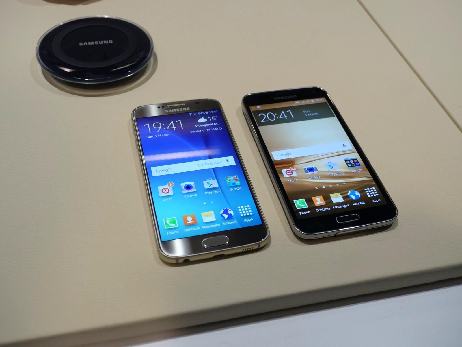 Samsung Galaxy S6 vs Galaxy S5: first look