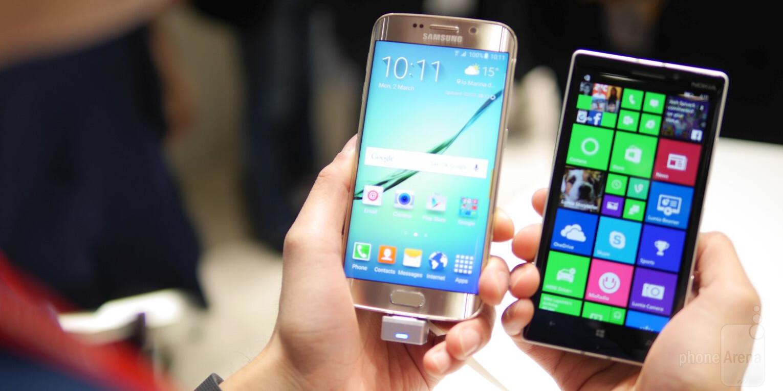 Samsung Galaxy S6 Edge Versus Nokia Lumia 930 First Look