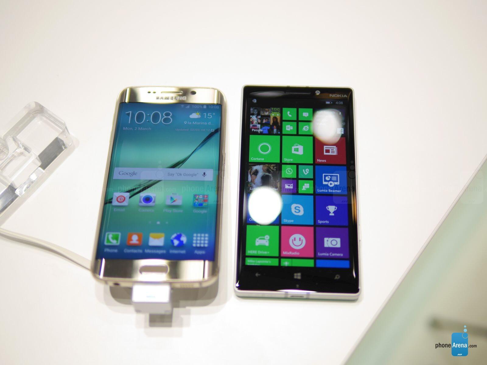 Samsung Galaxy S6 edge versus Nokia Lumia 930: first look ...