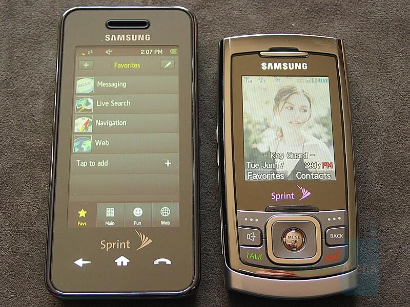 Instinct next to Samsung M520 - Hands-on with the Samsung Instinct