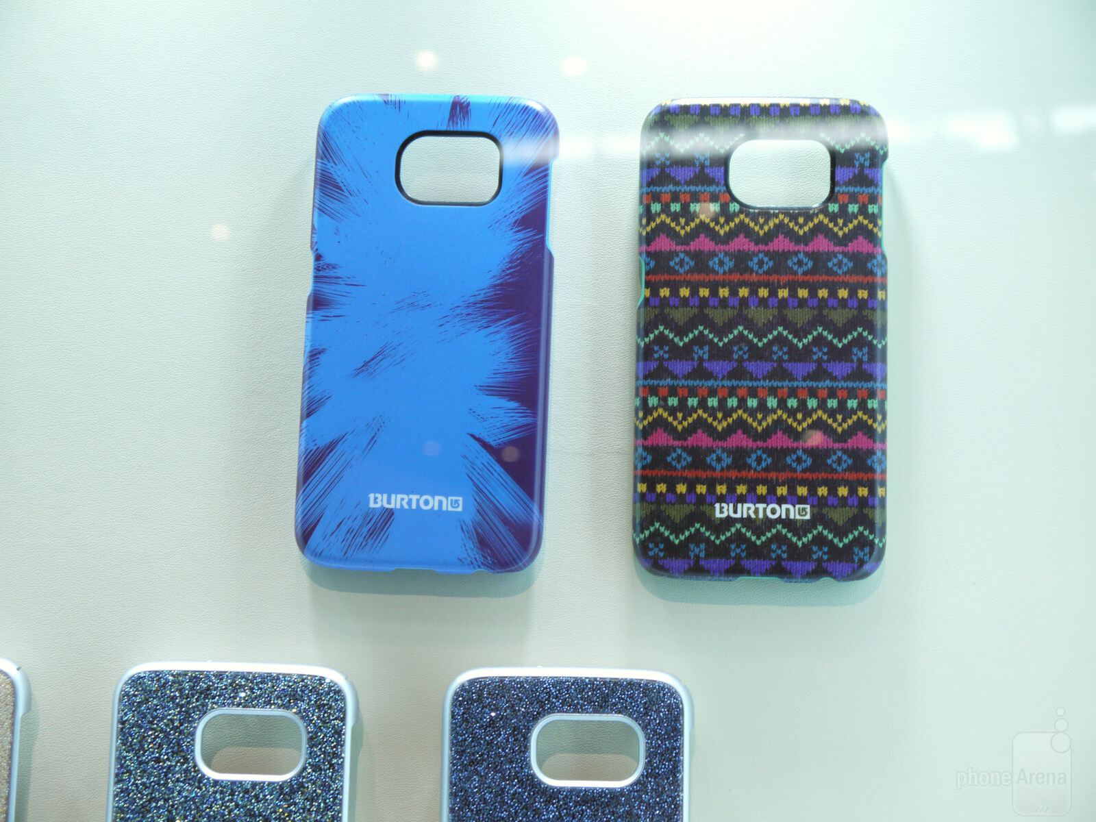 Samsung Galaxy S6 and Galaxy S6 edge cases are displayed at MWC2015