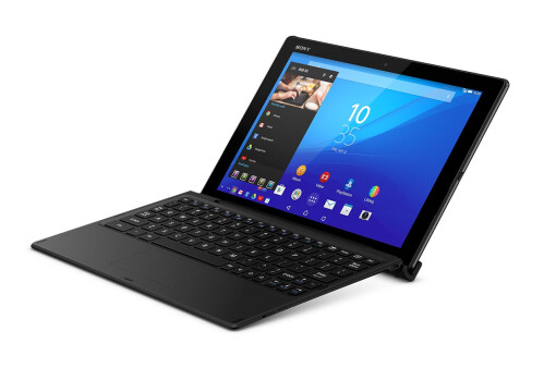 The Xperia Z4 Tablet's Bluetooth keyboard accessory