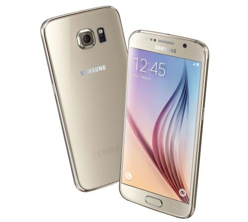 Samsung Galaxy S6, Gold Platinum.