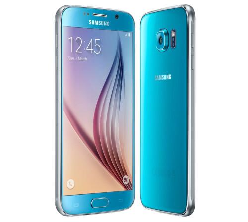 Samsung Galaxy S6, Blue Topaz.