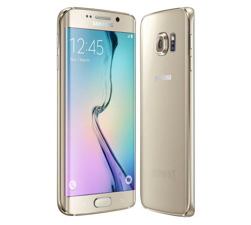 Samsung Galaxy S6 edge, Gold Platinum.