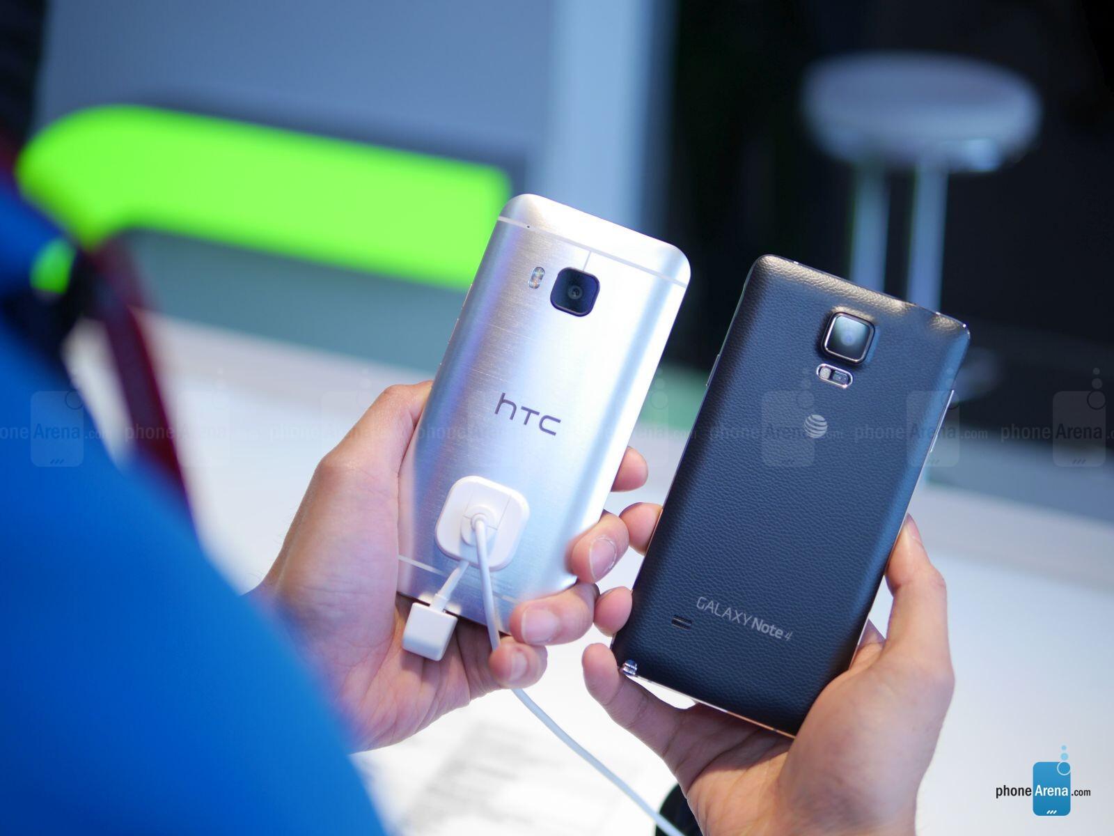 Samsung galaxy note 5 vs htc one m9 plus a comparison - Htc One M9 Vs Samsung Galaxy Note 4 First Look