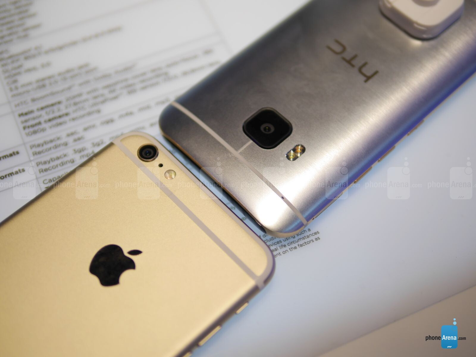HTC One M9 versus Apple iPhone 6 Plus: first look | PhoneArena