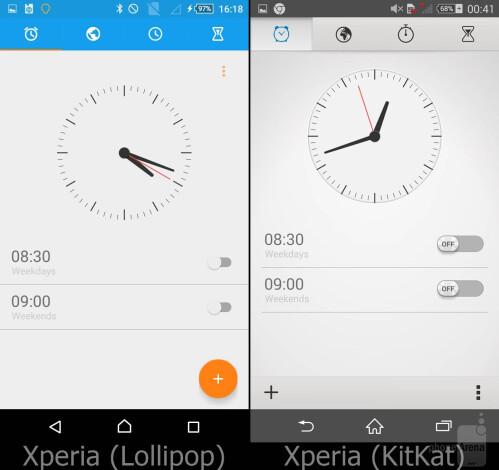 Clock (alarms tab)