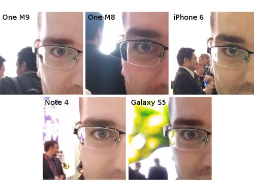 HTC One M9 selfie camera comparison