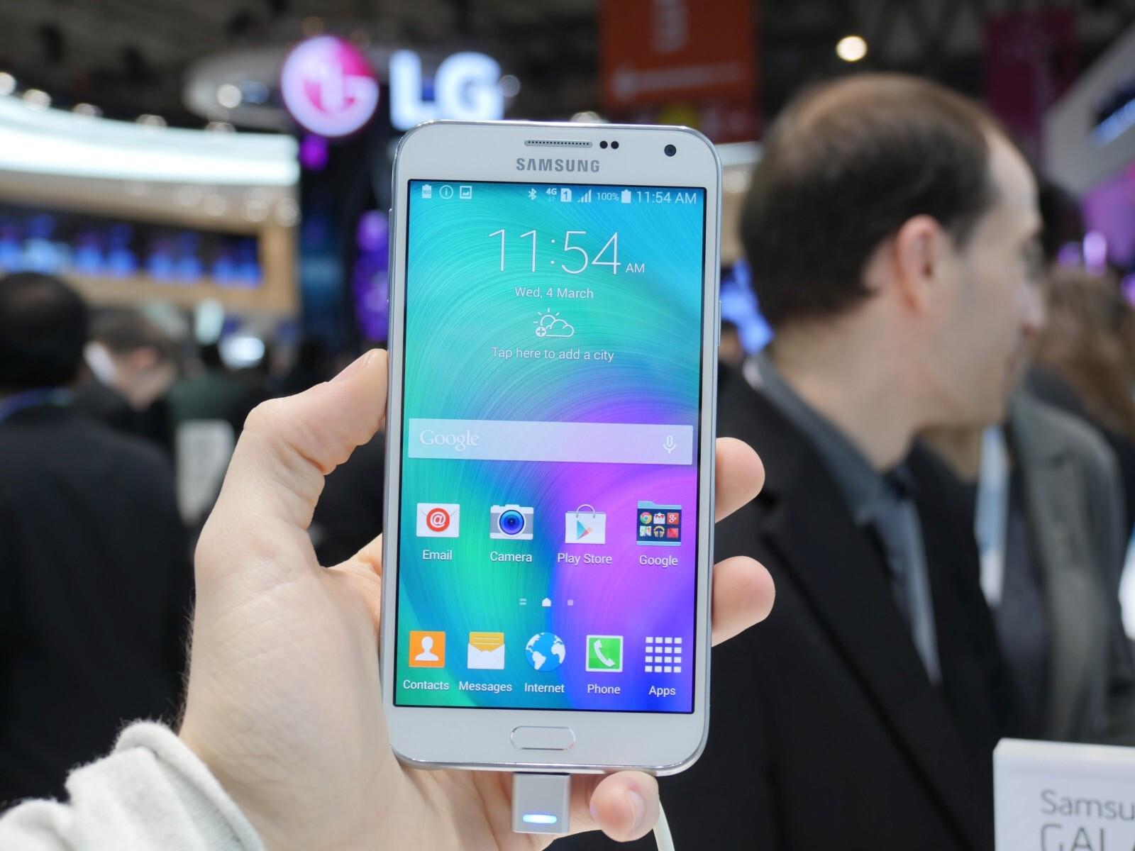 Samsung Galaxy E7 Hands On A Decent Mid Ranger Phonearena Reviews